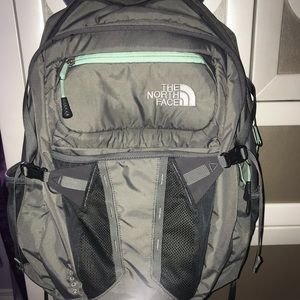 Grey North face backpack